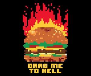 8bit, happy, and cheeseburger image