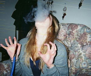 grunge, smoke, and girl image
