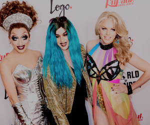 adore delano, courtney act, and ru paul drag race image