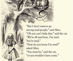 alice in wonderland, alice, and mad image