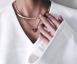 fashion, white, and necklace image