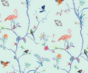 pattern, birds, and blue image