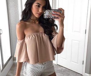 brunette, summer, and fashion image