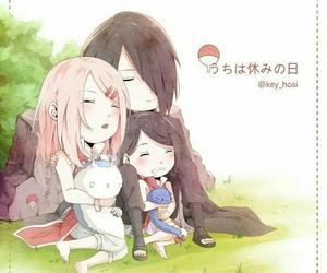 sakura, sarada, and anime image