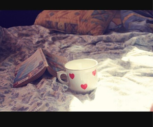bed, book, and cozy image