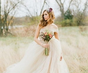ball gown, tulle wedding dress, and wedding dress 2016 image
