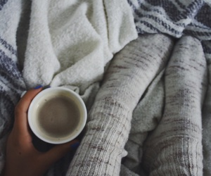 coffee, socks, and winter image