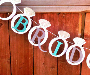 banner, bridal, and teal image