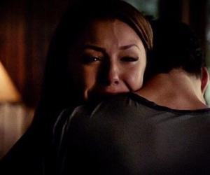 cry, damon, and elena image
