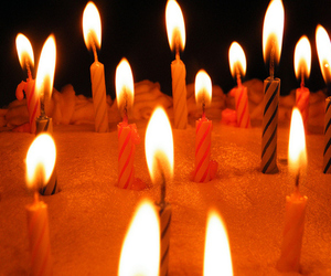 candle, birthday, and cake image