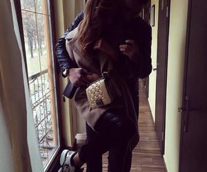 couple, hug, and girl image