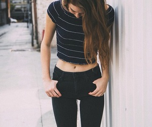 black, girls, and jeans image