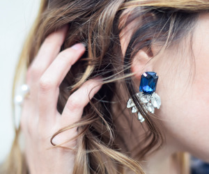 style, earrings, and fashion image