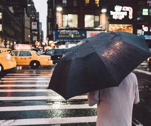 rain, autumn, and city image