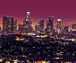 city, night, and los angeles image