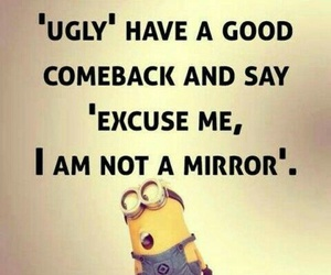 funny, minions, and mirror image
