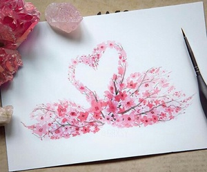 pink, art, and Swan image