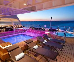 pool, cruise, and luxury image