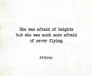 afraid, Flying, and quote image