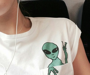 alien, grunge, and white image
