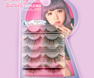 cosmetics, fake eyelashes, and japan image