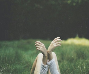 girl, hands, and nature image