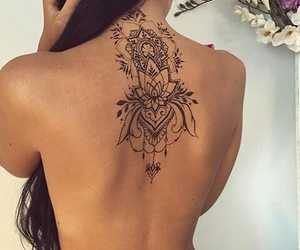 back tattoo, inked, and inspiration image