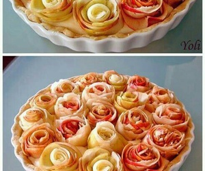 food, apple, and rose image
