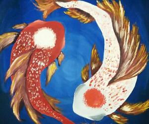 drawing, fish, and painting image