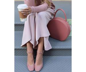 bag, coffee, and outfit image