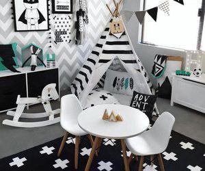 b&w, room, and cute image