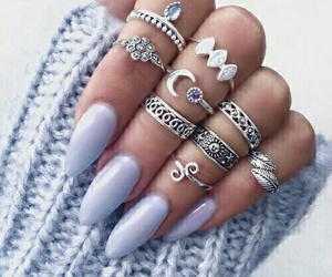 nails, rings, and purple image