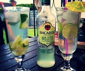 drink, bacardi, and mojito image