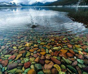 lake, nature, and stone image