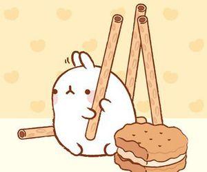 cute, molang, and bunny image