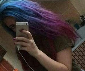 coloured hair and hair image