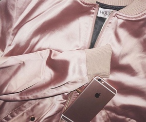pink, rose gold, and iphone image