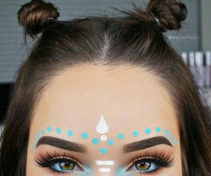 makeup, beauty, and festival image