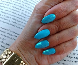 blue, girly, and nailstagram image
