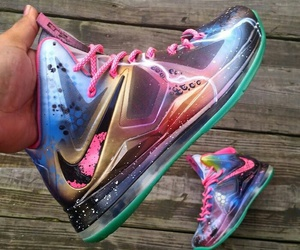 Basketball, colourful, and shoes image