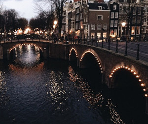light, city, and amsterdam image
