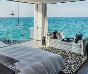 beach, home, and sea view image