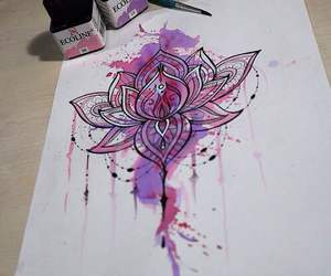flower, mandala, and pink image