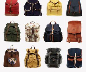 bag, vintage, and rucksack image
