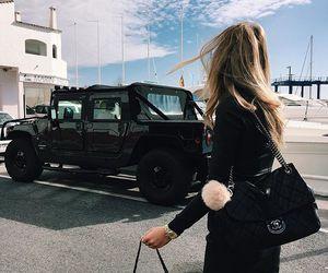 fashion, girl, and car image