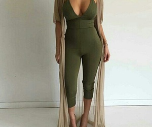 fashion, green, and romper image