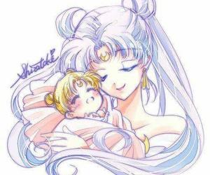 sailor moon and princess serenity image