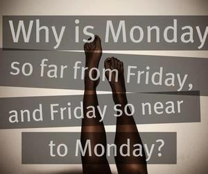 friday, monday, and weekend image