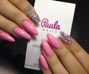 candy, nails, and pink image