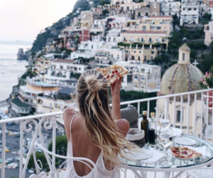 travel, view, and pizza image